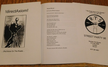 Reclaim the Streets pamphlet - Street Party 96