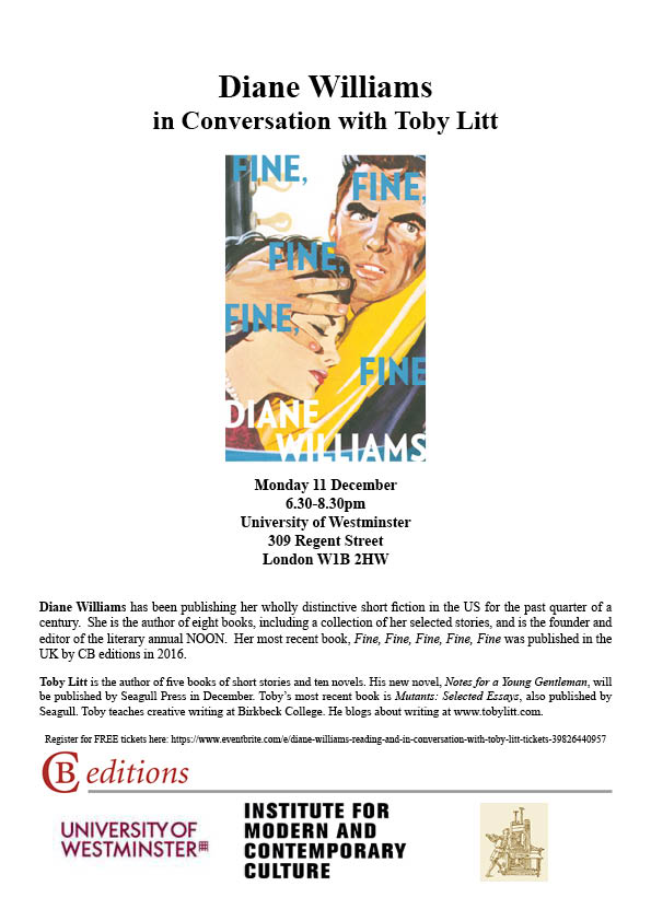 Diane Williams Flier 2
